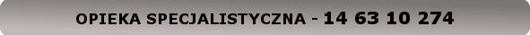 USŁUGI PRYWATNE - OPIEKA SPECJALISTYCZNA - 14 63 10 274