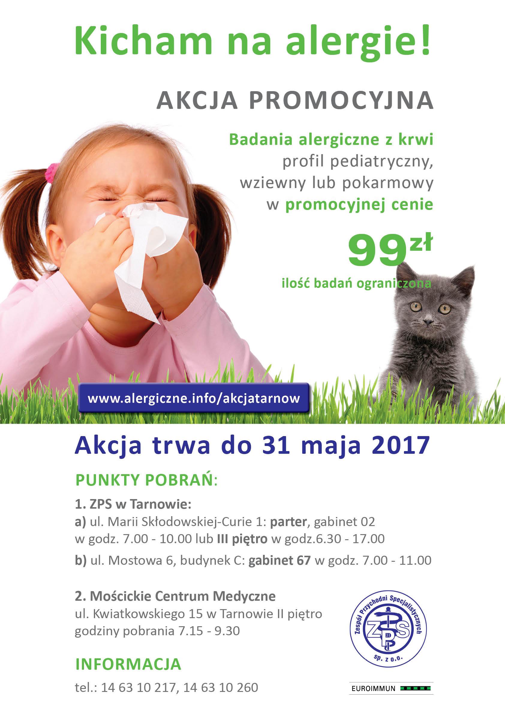Kicham na alergie! Akcja badań alergicznych dla dzieci i dorosłych