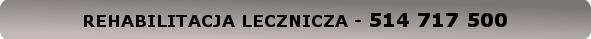 USŁUGI PRYWATNE - REHABILITACJA LECZNICZA - 730 474 955